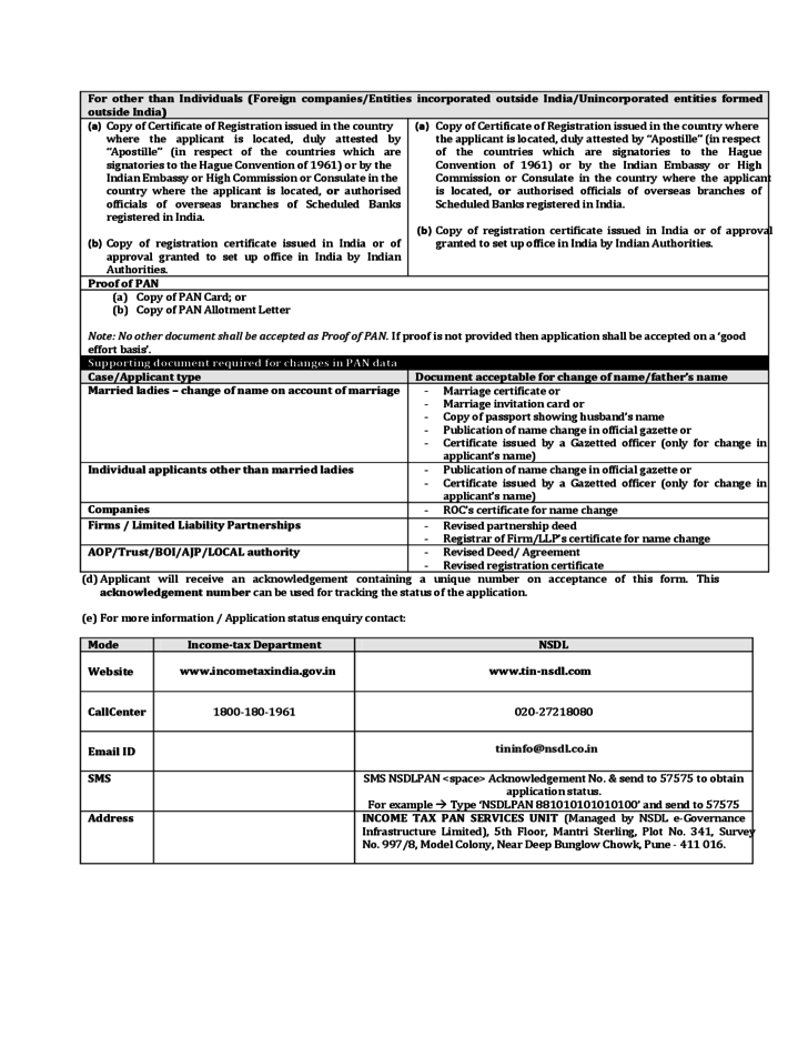 income tax job application form