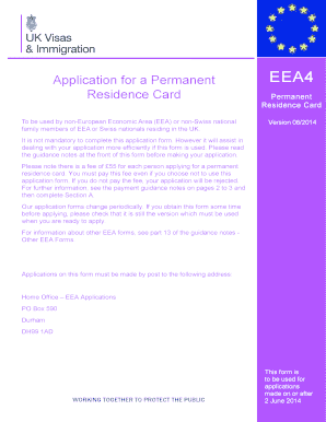 application form for permanent residence in uk