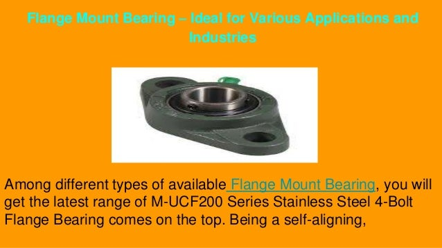 types of bearings and their applications ppt