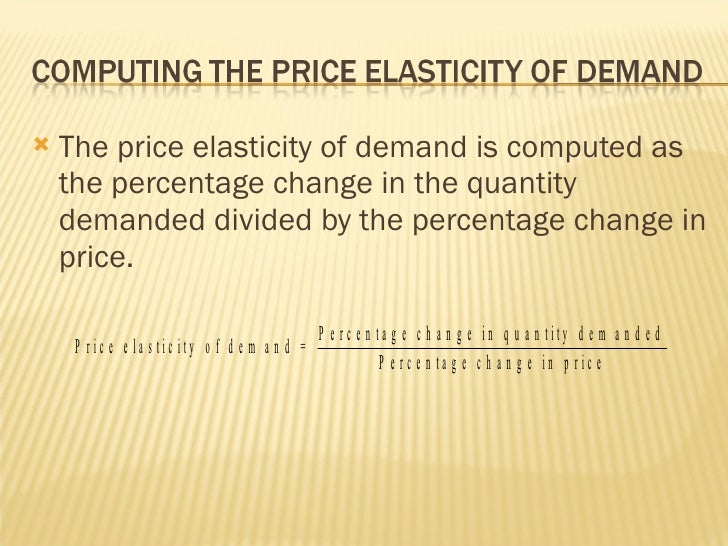 application of elasticity of demand in business