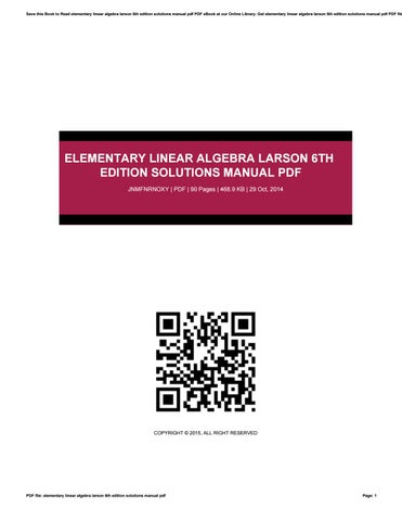 elementary linear algebra applications version 11th edition pdf