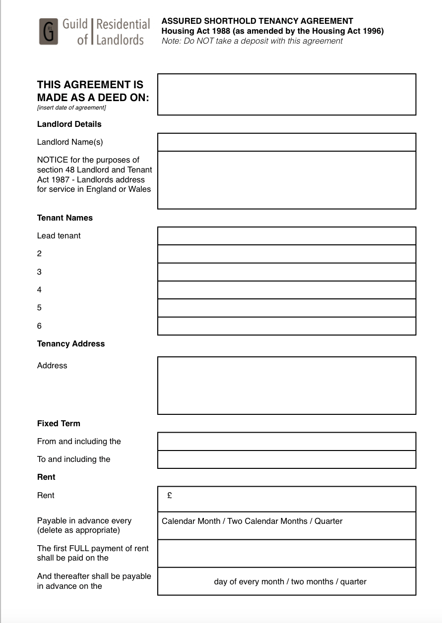 mortgage to rent scheme application form