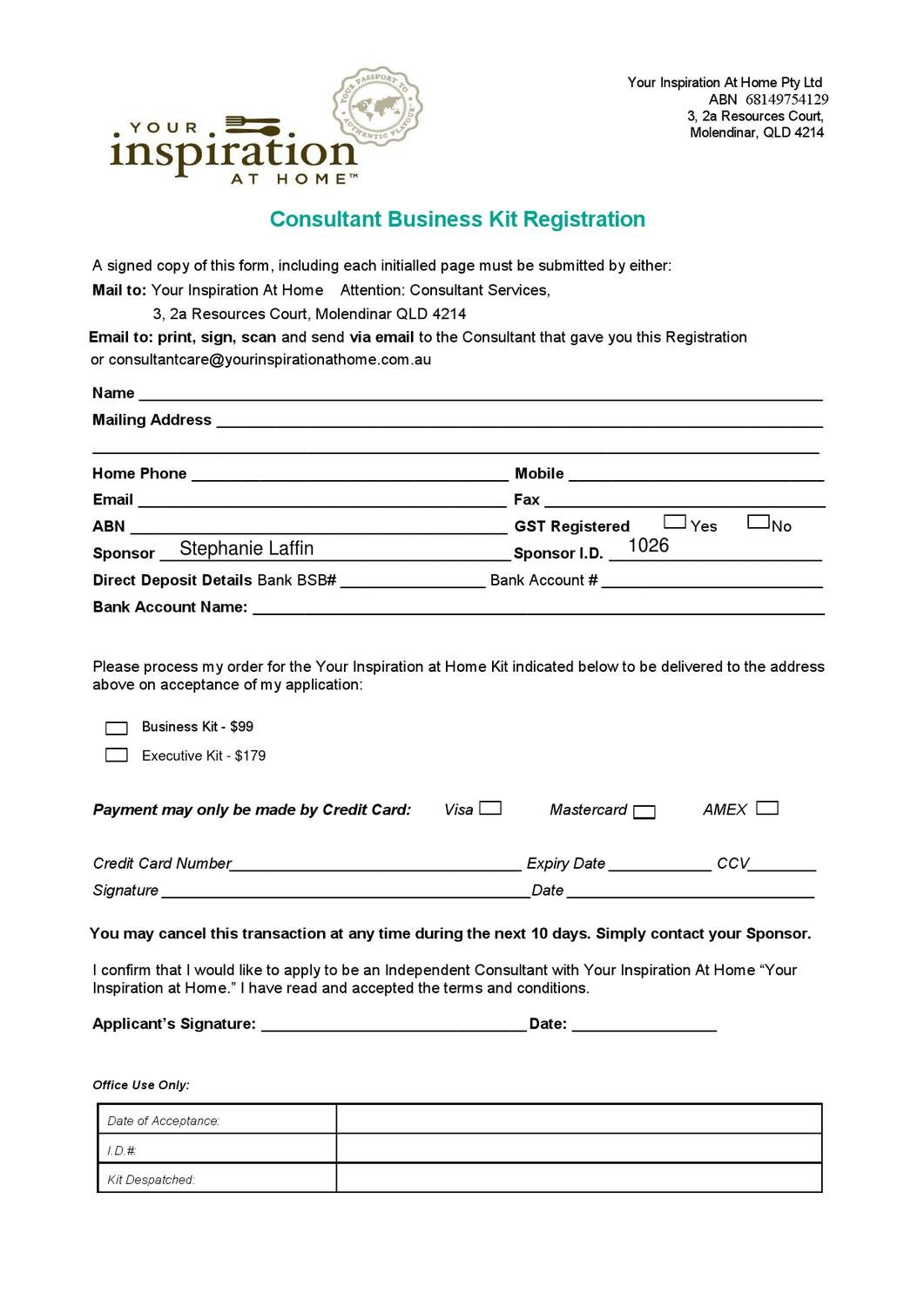 abn and business name application