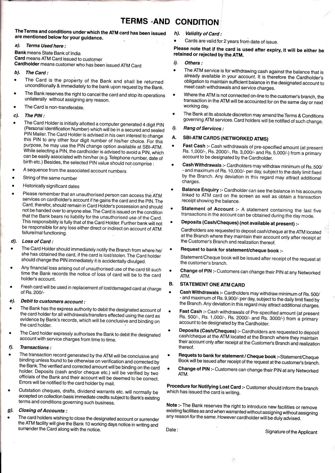 sbi net banking application form