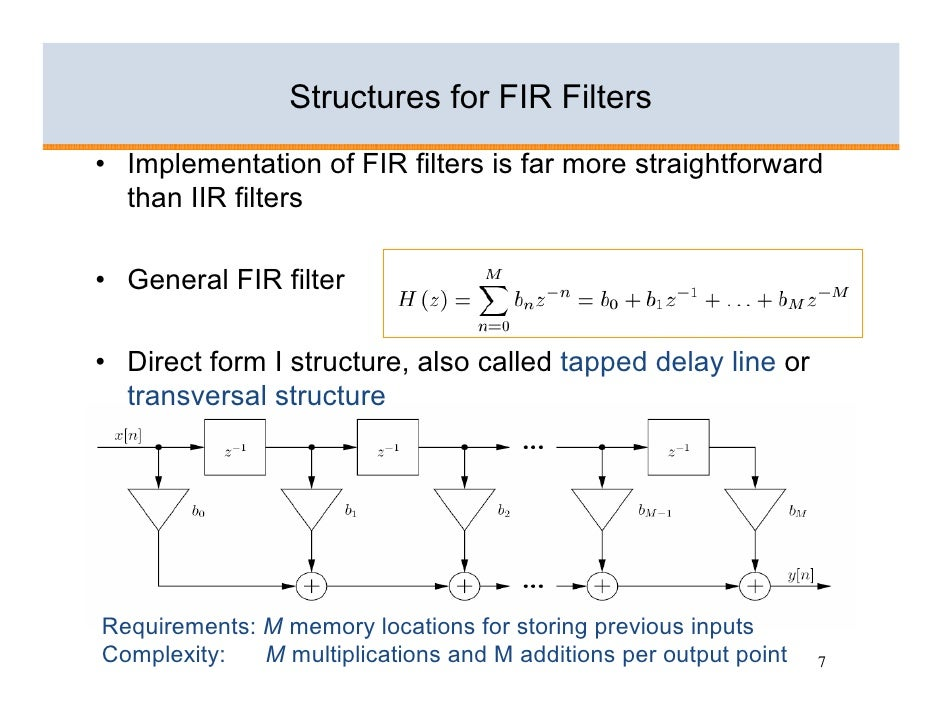 applications of fir and iir filters