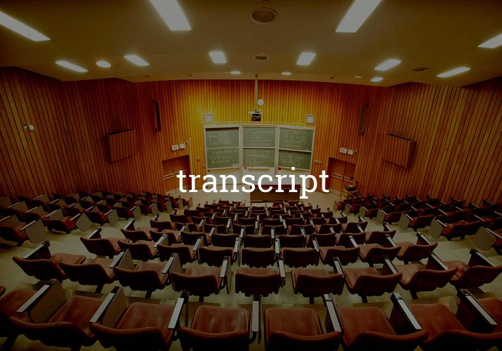 attaching transcript to job application