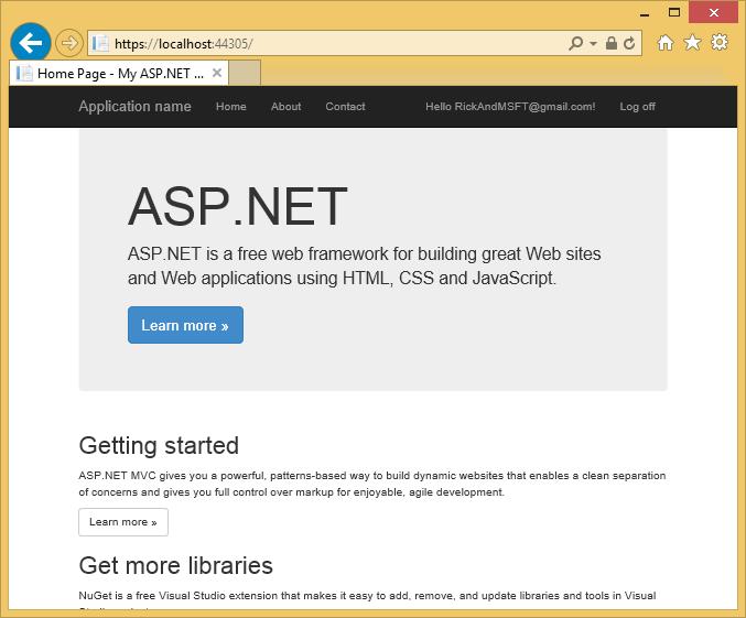 create asp net web application