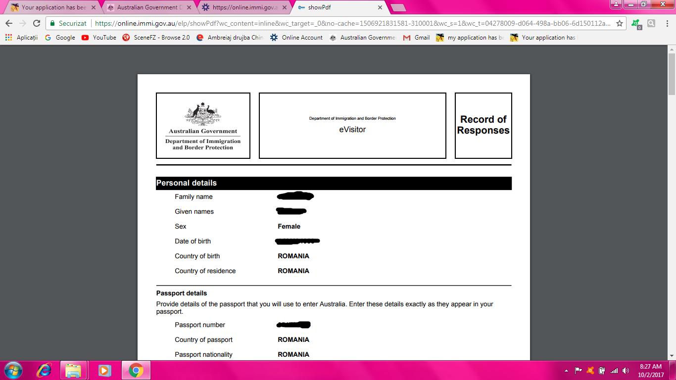 application for 2nd year visa australia
