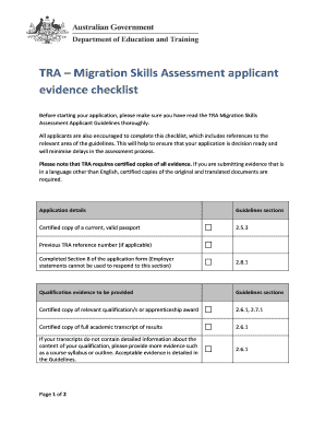 tra migration skills assessment applicant guidelines