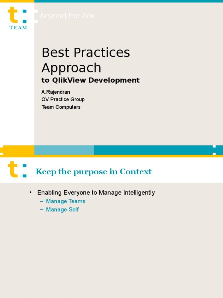 qlikview application development best practices