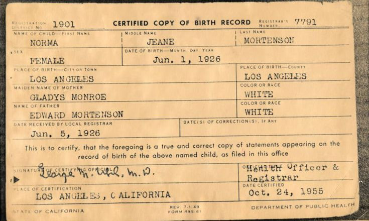 application for change of date of birth