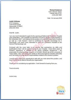 application letter for financial management fresh graduate