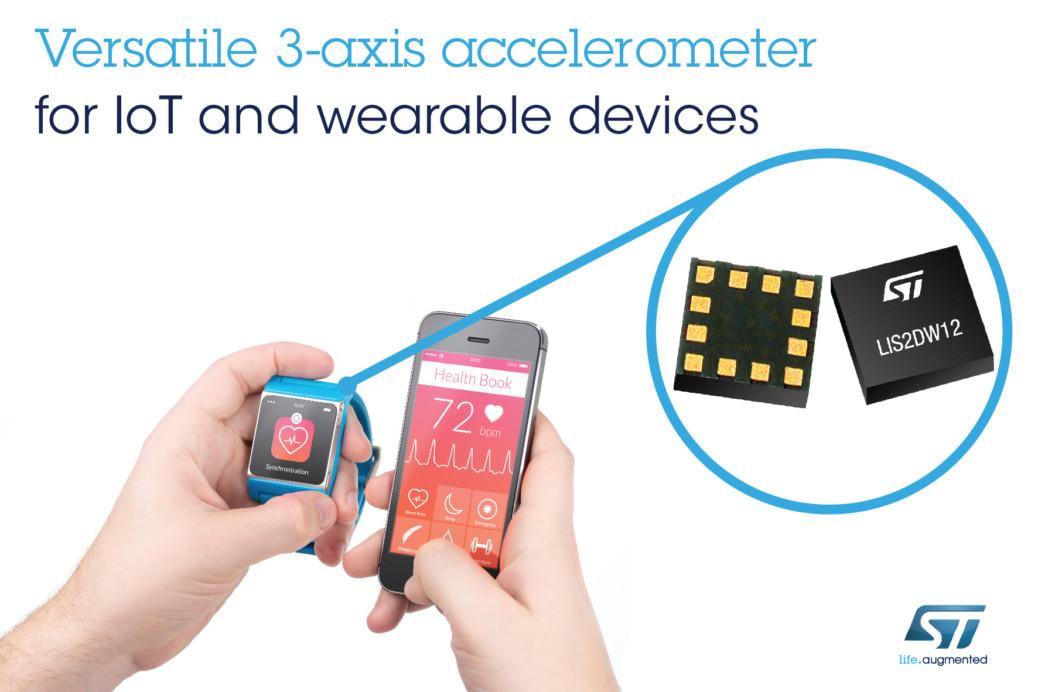 st microelectronics free fall sensor application