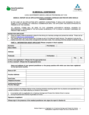 hire car licence application form