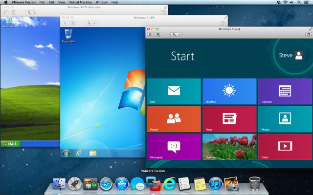 vmware fusion run windows applications on mac