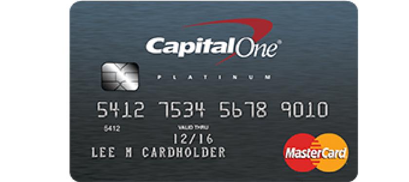 capital one platinum credit card application