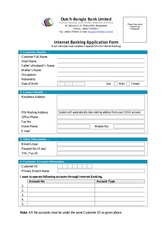 sbh internet banking application form