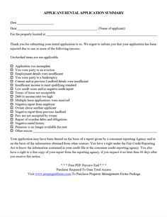 cover letter for rental property application