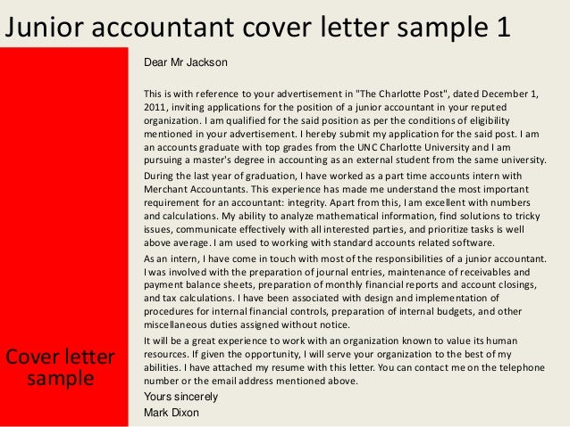 application letter for the post of accountant