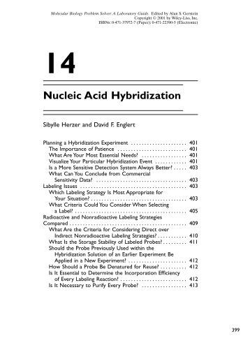 application of nucleic acid hybridization