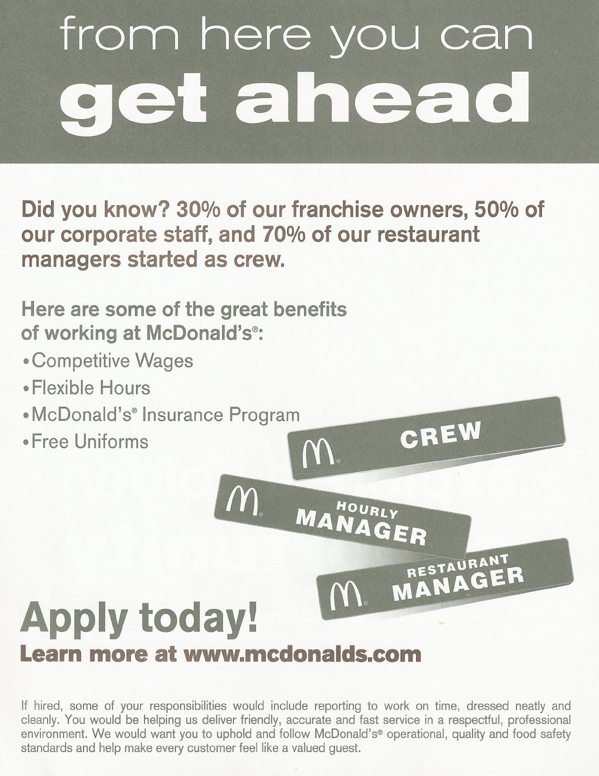 mcdonalds online application form uk