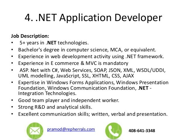 mobile application developer job description
