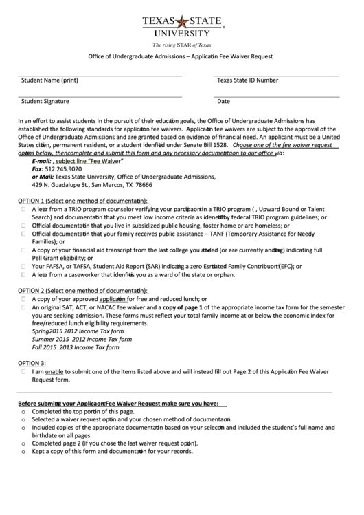 sat request for waiver of college application fee form