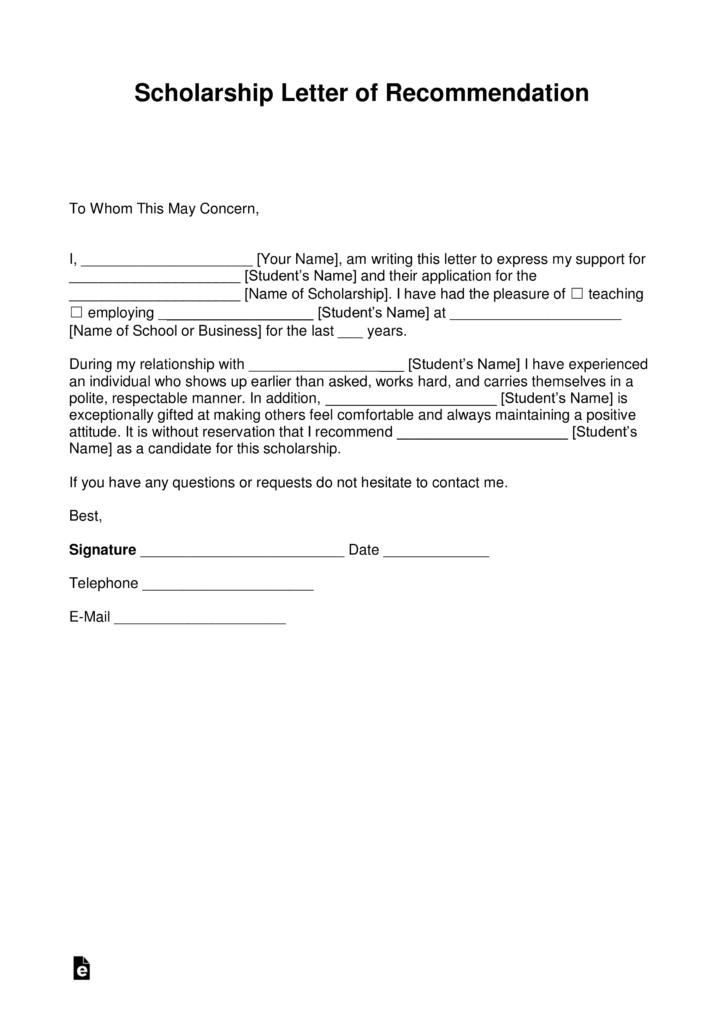 scholarship application letter sample doc