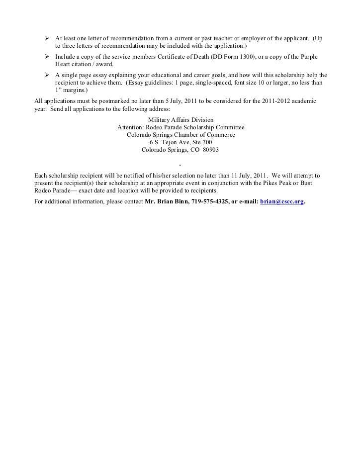 scholarship application letter for high school