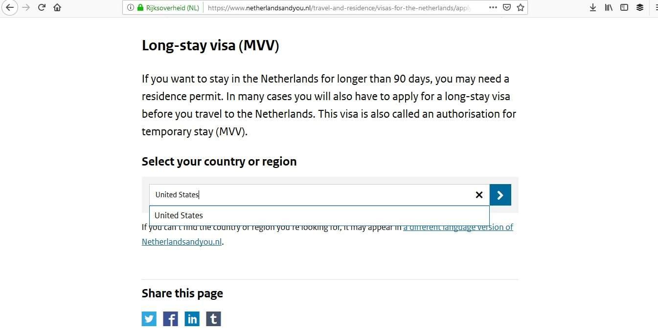 online visa application for netherlands