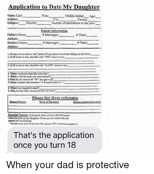 application to date my mother