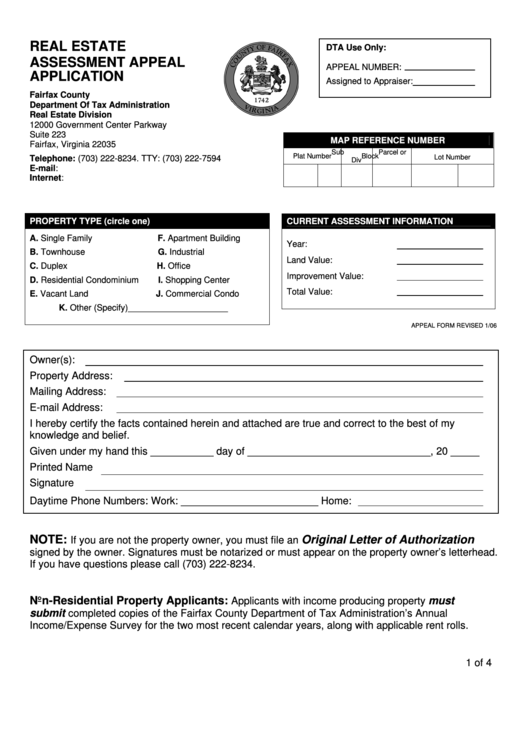 residential real estate application form