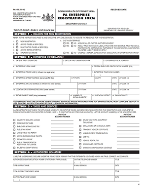 business tax file number application form