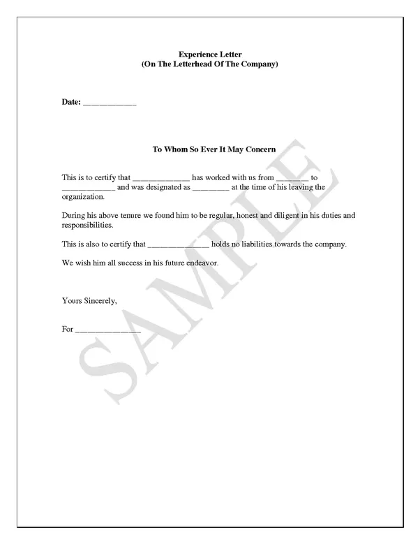 application letter with experience sample