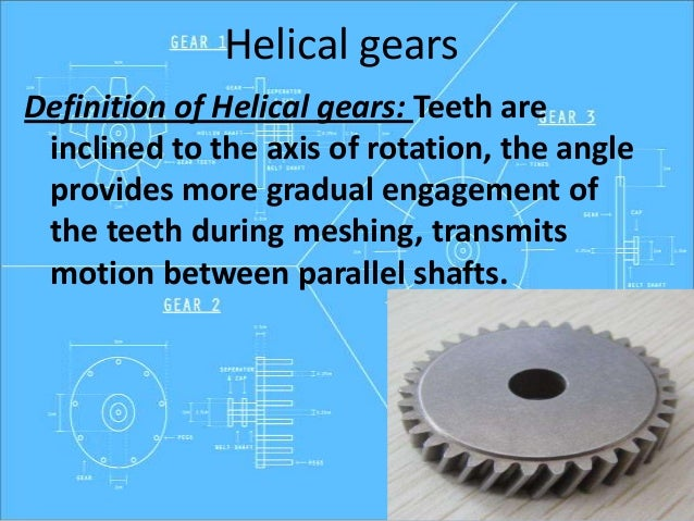 types of gears and applications ppt