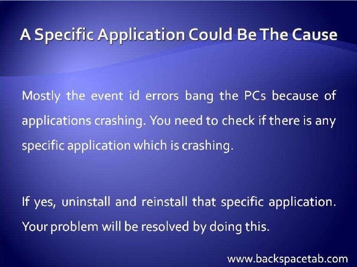 event id 100 application error