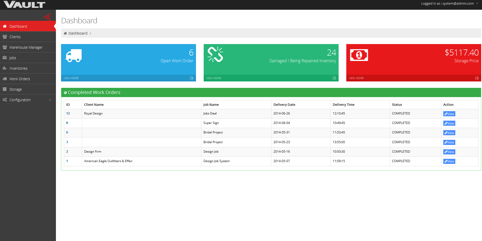 acme system 1 web application