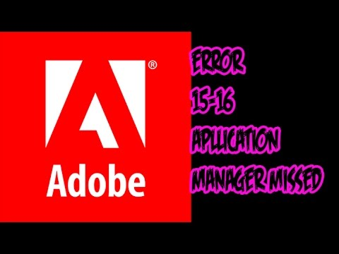 adobe application manager missing or damaged