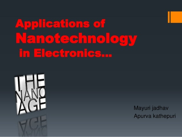 application of nanoparticles in electronics