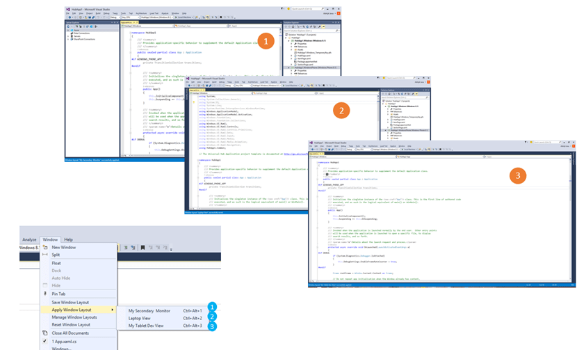 creating windows applications in visual studio