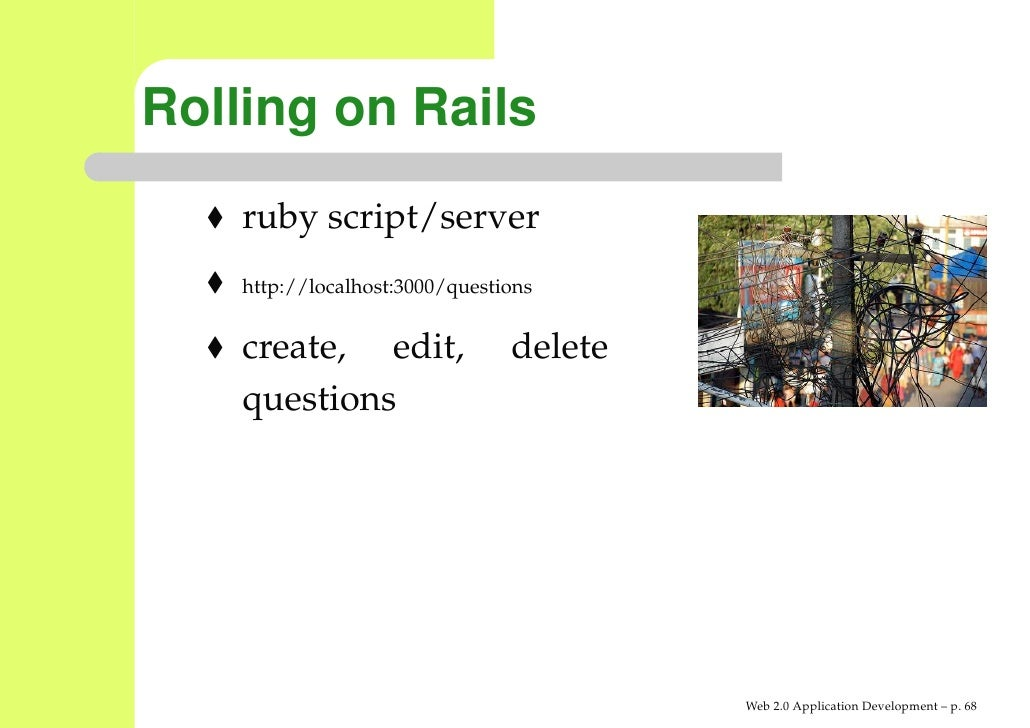 ruby on rails application server