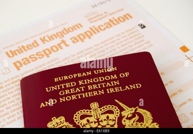 united kingdom passport application form