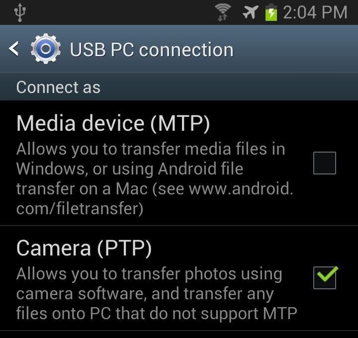 mtp application samsung galaxy s3