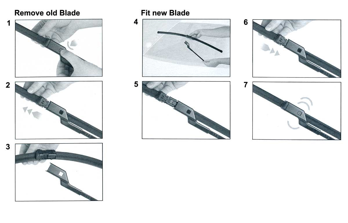 trico wiper blades application chart