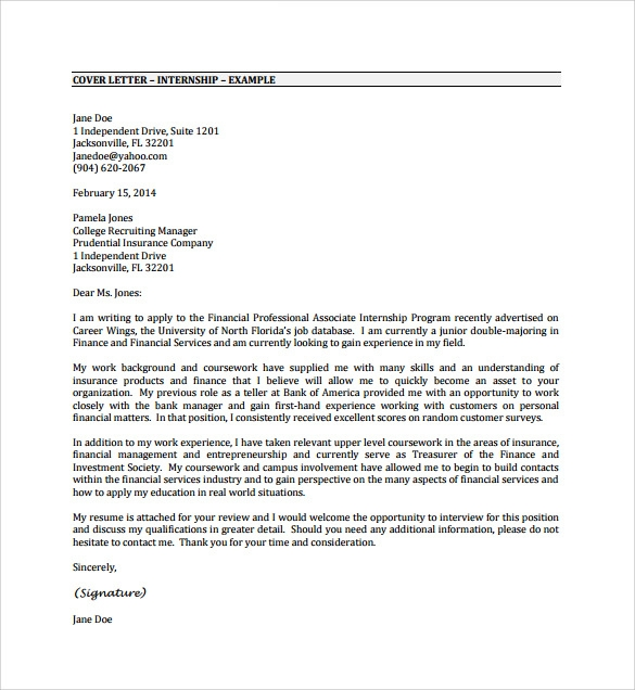application letter for any position with experience