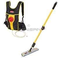 floor finish applicator backpack system