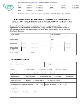 expression of interest example job application