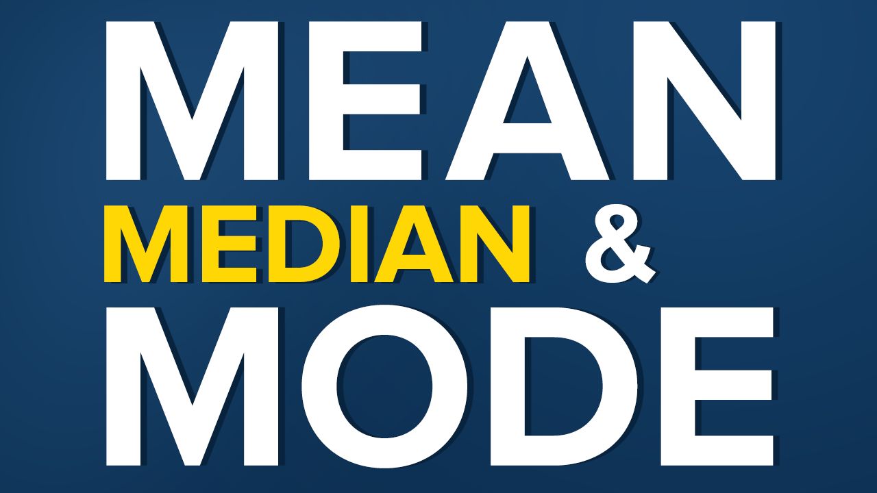application of mean median and mode