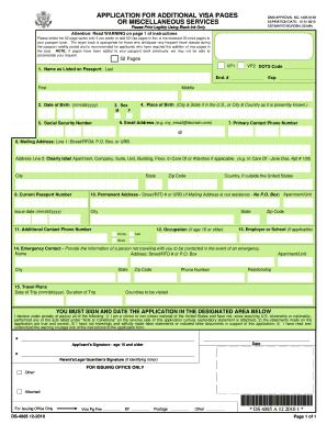 ds 4085 visa pages application form