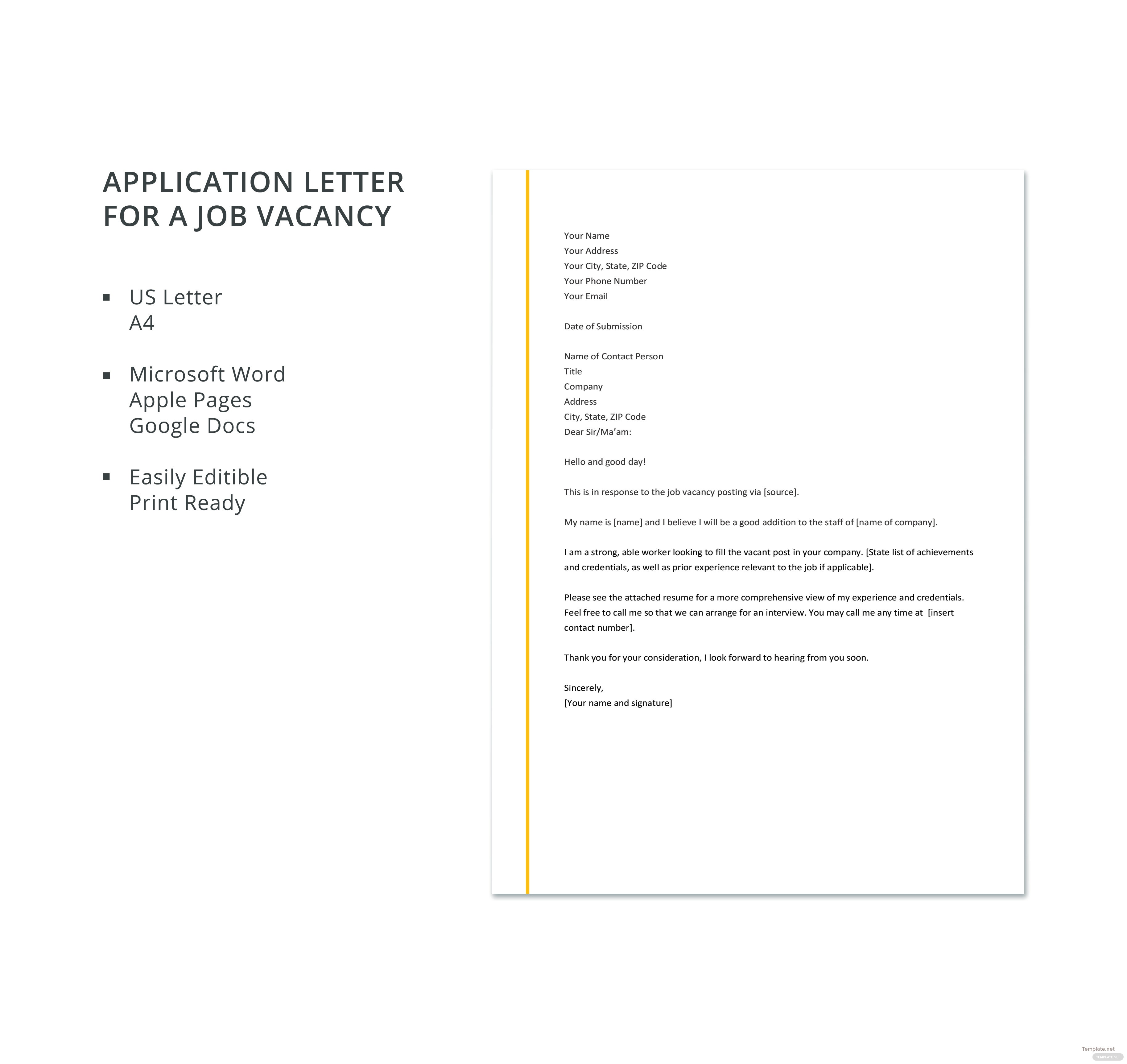 100 words or less job application